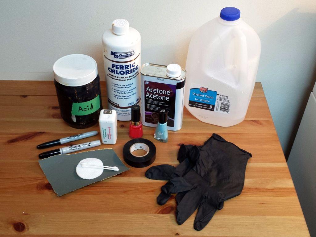 Травление рисунка на топоре в домашних условиях