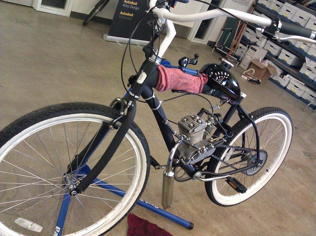 Велосипед с мотором от бензопилы своими руками