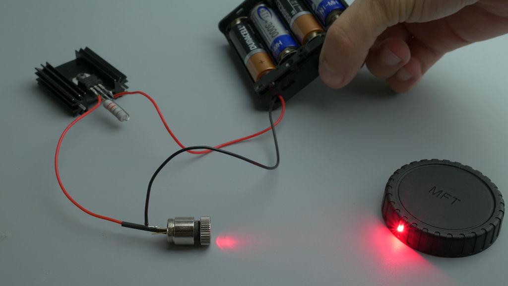 Схема подключения лазерного диода