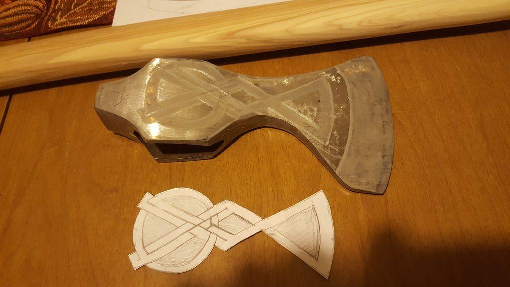 Топор викинга своими руками из простого топора