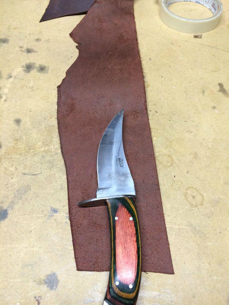 Нож своими руками из кожи